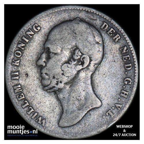 ½ gulden - Willem II - 1847 (kant B)