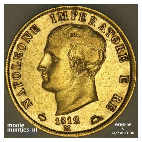 40 lire - Italian States/Kingdom of Napoleon 1812 M (KM 12) (kant A)