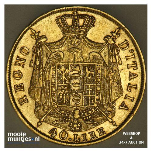 40 lire - Italian States/Kingdom of Napoleon 1812 M (KM 12) (kant B)