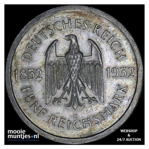 5 reichsmark - Germany-Weimar Republic 1932 E (KM 77) (kant A)