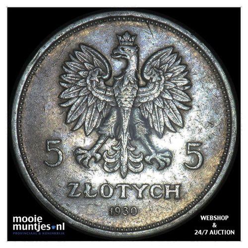 5 zlotych - republic - Poland 1930 (KM Y# 18) (kant A)