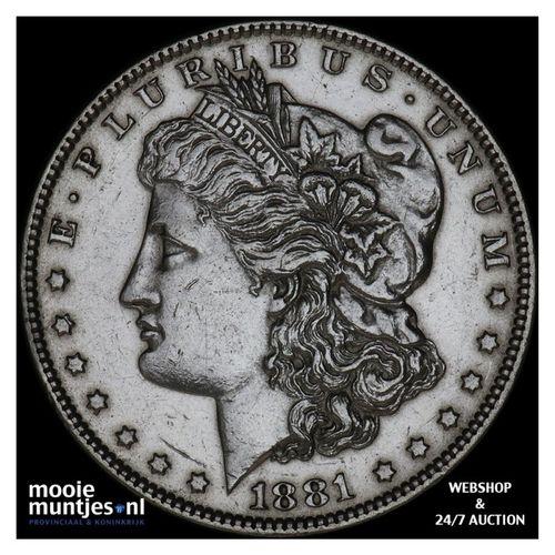 dollar - Morgan - United States of America/Circulation coinage 1881 O (KM 110) (