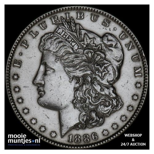 dollar - Morgan - United States of America/Circulation coinage 1886 (KM 110) (ka