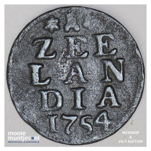 Zeeland - Duit - 1754 emergo (kant A)
