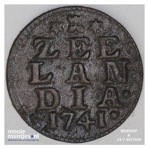 Zeeland - Duit - 1741 (kant A)