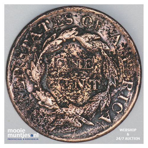 cent - coronet - United States of America/Circulation coinage 1827 (KM 45) (kant