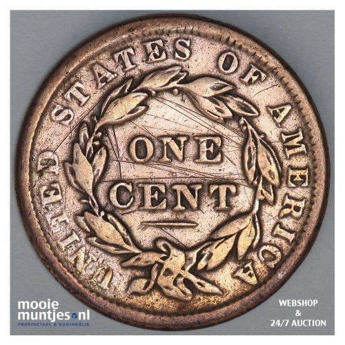 cent - coronet - United States of America/Circulation coinage 1838 (KM 45) (kant