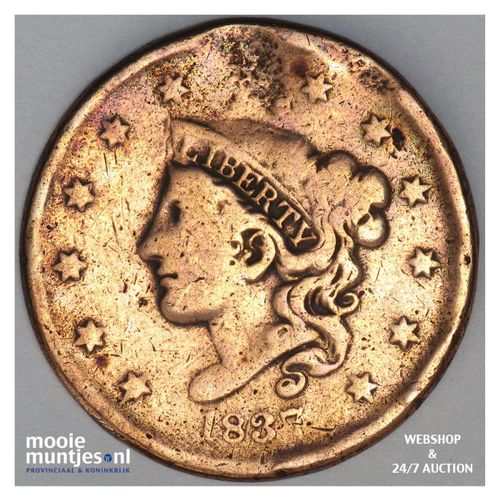 cent - coronet - United States of America/Circulation coinage 1837 (KM 45) (kant