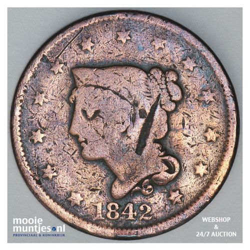 cent - braided hair - United States of America/Circulation coinage 1842 (KM 67)