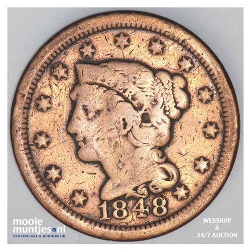 cent - braided hair - United States of America/Circulation coinage 1848 (KM 67)