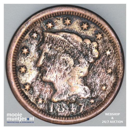cent - braided hair - United States of America/Circulation coinage 1847 (KM 67)