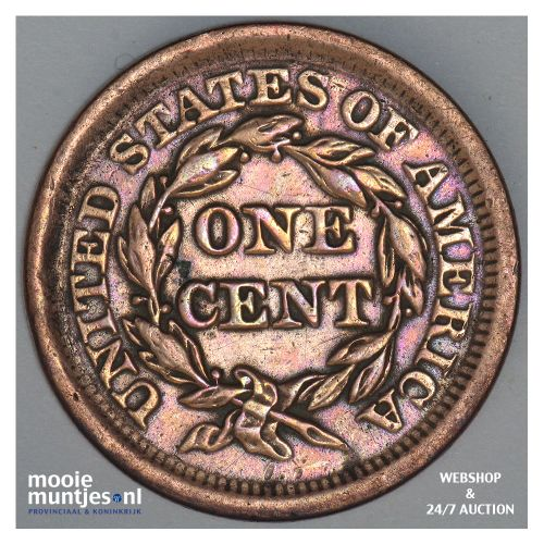 cent - braided hair - United States of America/Circulation coinage 1853 (KM 67)