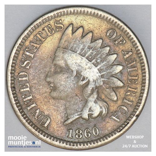 cent - indian head - United States of America/Circulation coinage 1860 (KM 90) (