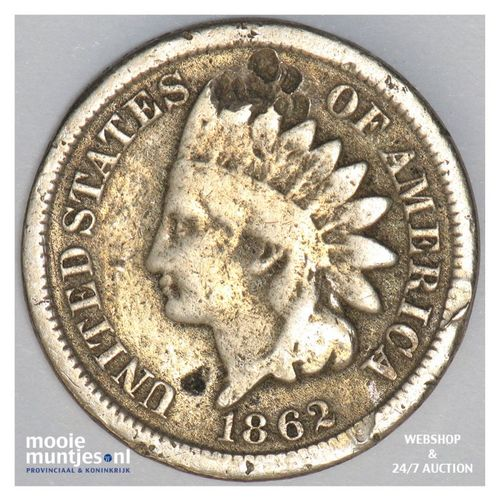 cent - indian head - United States of America/Circulation coinage 1862 (KM 90) (
