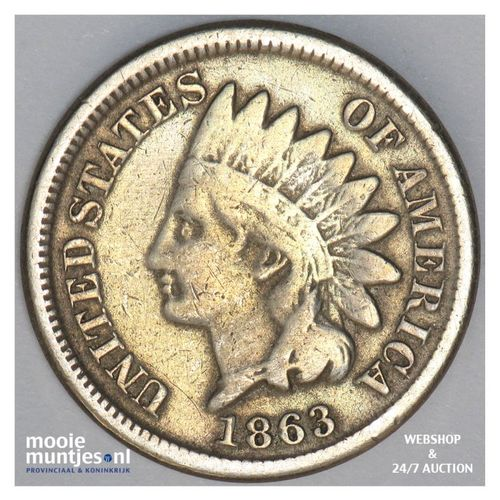 cent - indian head - United States of America/Circulation coinage 1863 (KM 90) (