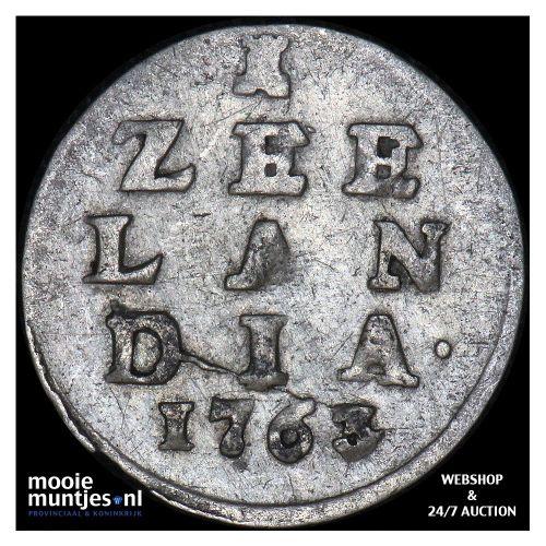 Zeeland - Pijl- of bezemstuiver - 1763 (kant A)
