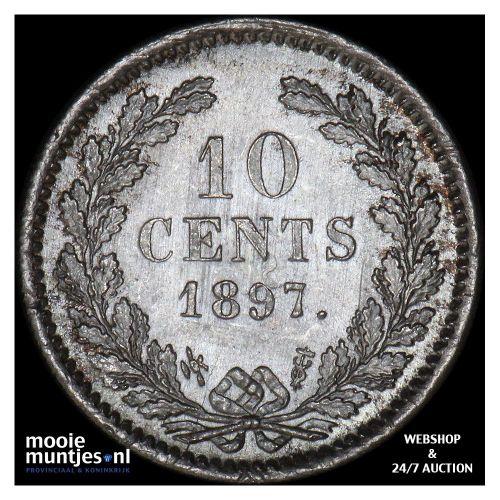10 cent - Wilhelmina - 1897 (kant A)