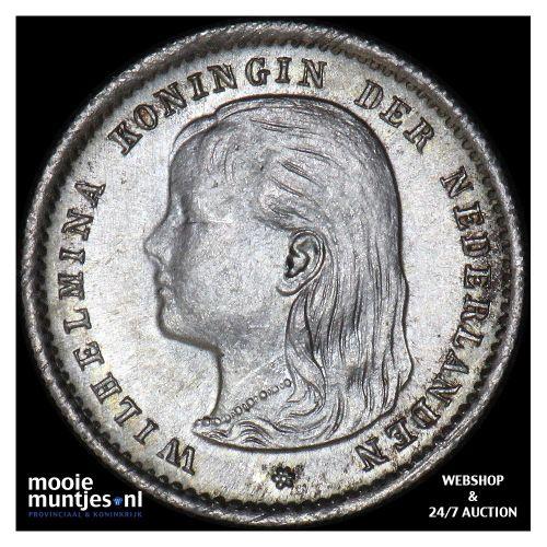 10 cent - Wilhelmina - 1897 (kant B)