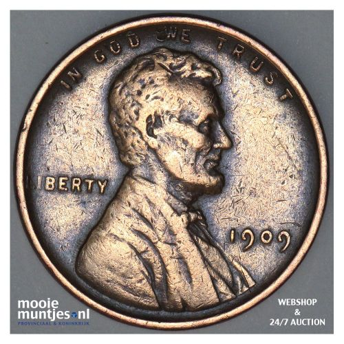 cent - Lincoln - United States of America 1909 (KM 132) (kant A)