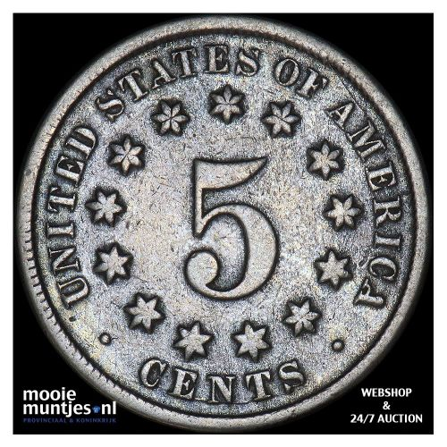 5 cents - shield nickel - United States of America/Circulation coinage 1870 (KM