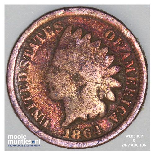 cent - indian head - United States of America/Circulation coinage 1864 (KM 90a)