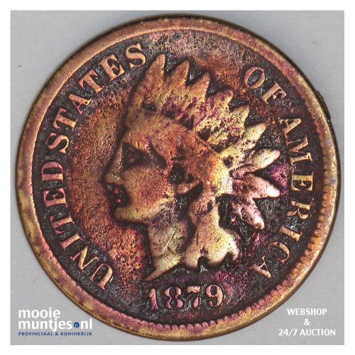 cent - indian head - United States of America/Circulation coinage 1879 (KM 90a)