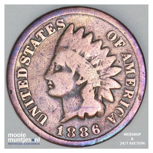 cent - indian head - United States of America/Circulation coinage 1886 (KM 90a)