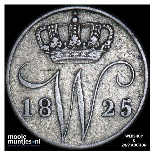 5 cent - Willem I - 1825 Brussel (kant A)