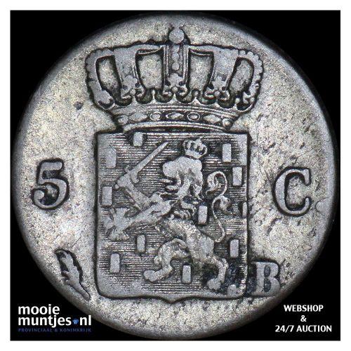 5 cent - Willem I - 1825 Brussel (kant B)