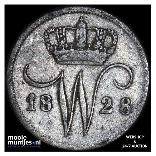 10 cent - Willem I - 1828 Utrecht (kant A)