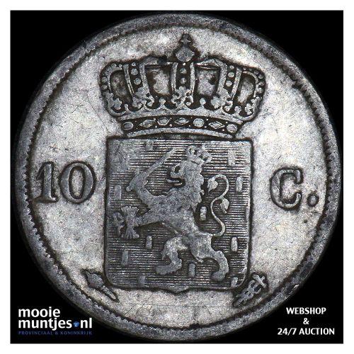 10 cent - Willem I - 1828 Utrecht (kant B)