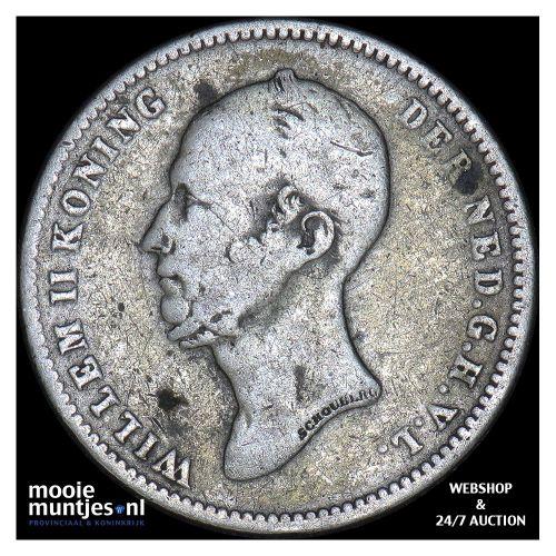 25 cent - Willem II - 1848 b (zonder punt) (kant B)