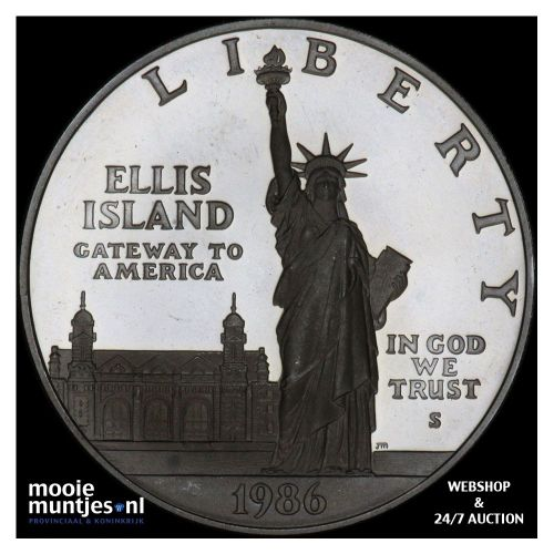 Statue of liberty centennial - United States of America/Dollar 1986 S proof (KM