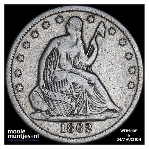 half dollar - seated liberty - United States of America/Circulation coinage 1862