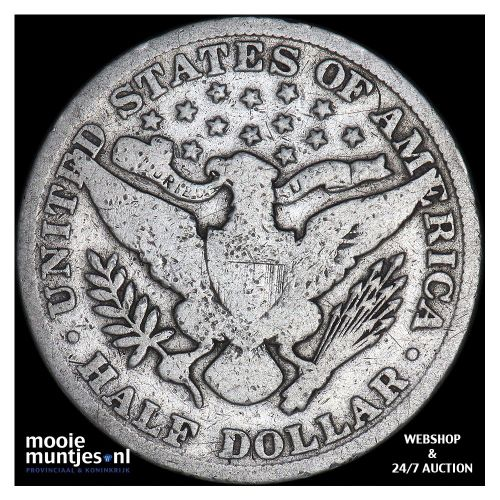 half dollar - barber - United States of America 1901 (KM 116) (kant B)