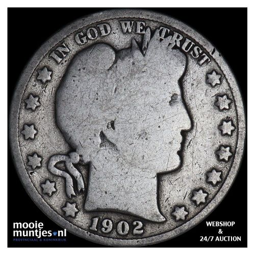 half dollar - barber - United States of America 1902 (KM 116) (kant A)