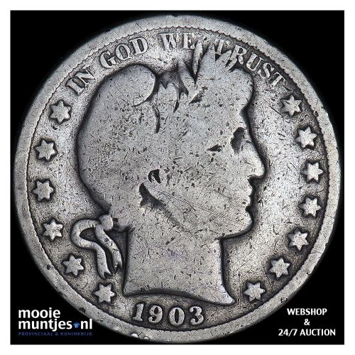 half dollar - barber - United States of America 1903 O (KM 116) (kant A)