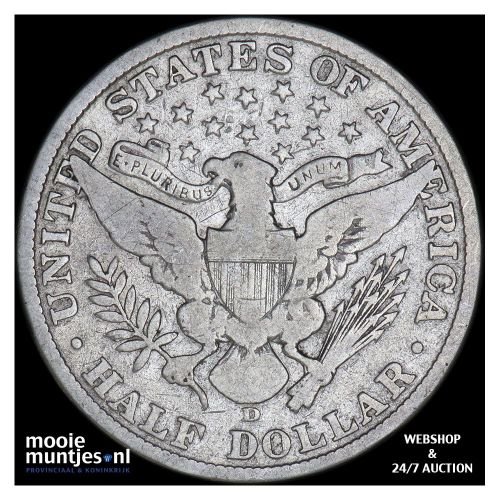 half dollar - barber - United States of America 1906 (KM 116) (kant B)