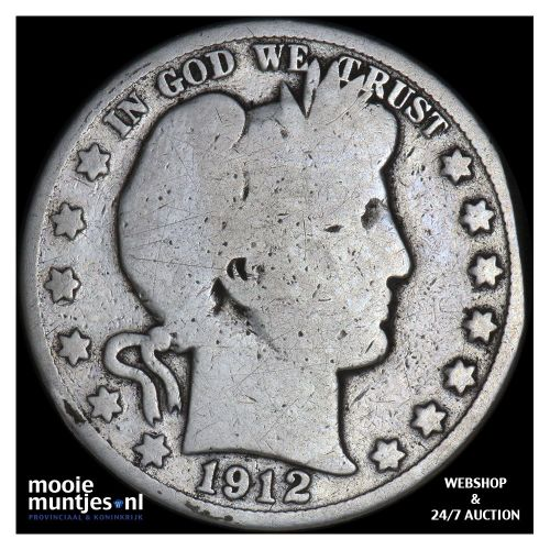 half dollar - barber - United States of America 1912 (KM 116) (kant A)