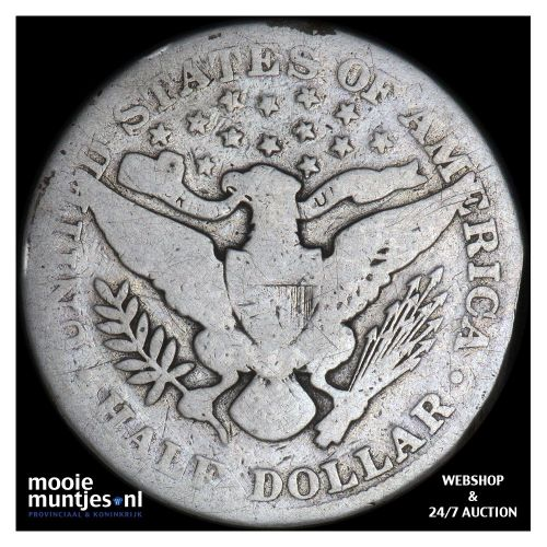 half dollar - barber - United States of America 1912 (KM 116) (kant B)