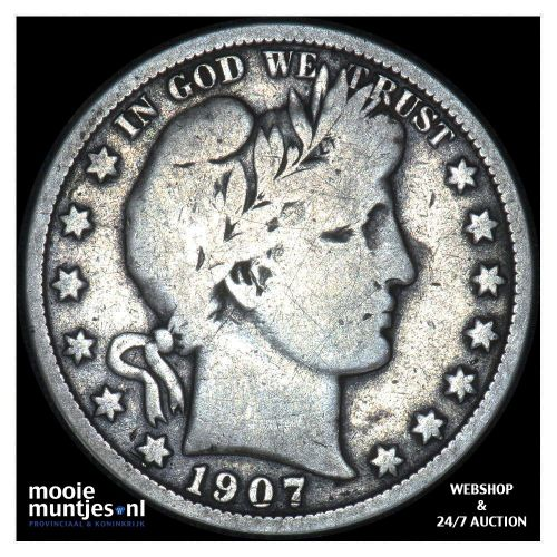 half dollar - barber - United States of America 1907 (KM 116) (kant A)