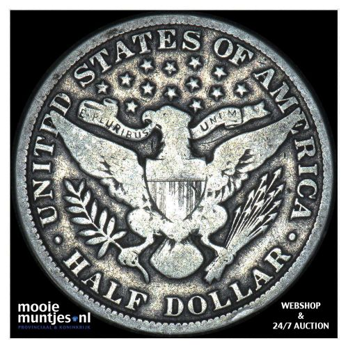 half dollar - barber - United States of America 1907 (KM 116) (kant B)