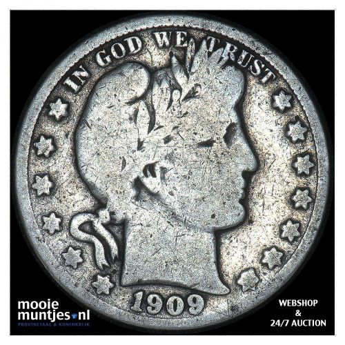 half dollar - barber - United States of America 1909 S (KM 116) (kant A)