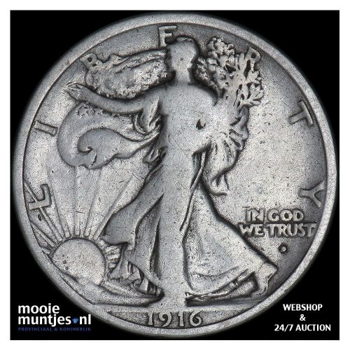half dollar - walking liberty - United States of America 1916 D (KM 142) (kant A
