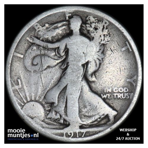 half dollar - walking liberty - United States of America 1917 D (KM 142) (kant A