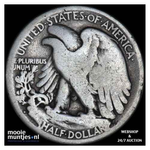 half dollar - walking liberty - United States of America 1917 D (KM 142) (kant B