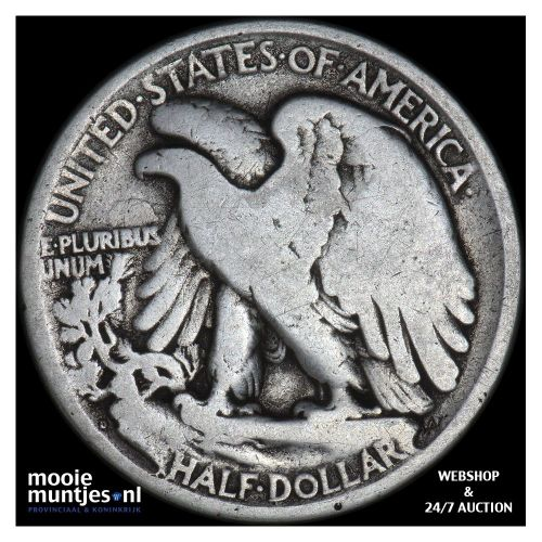 half dollar - walking liberty - United States of America 1918 D (KM 142) (kant B