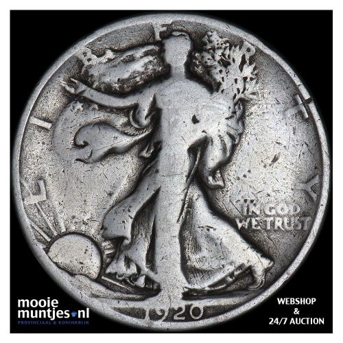 half dollar - walking liberty - United States of America 1920 S (KM 142) (kant A