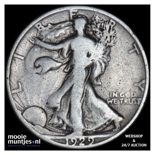half dollar - walking liberty - United States of America 1929 S (KM 142) (kant A