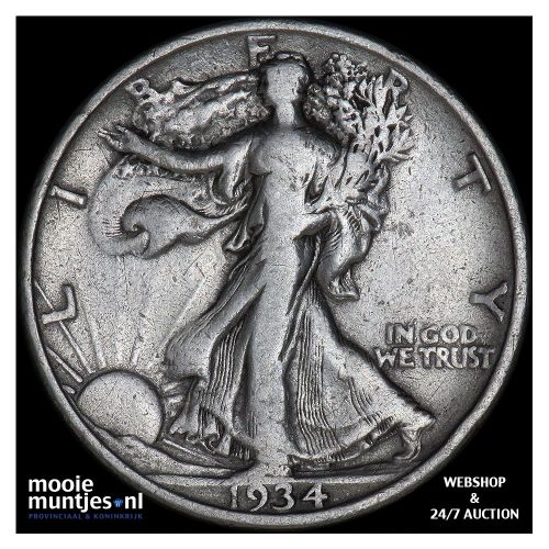 half dollar - walking liberty - United States of America 1934 (KM 142) (kant A)